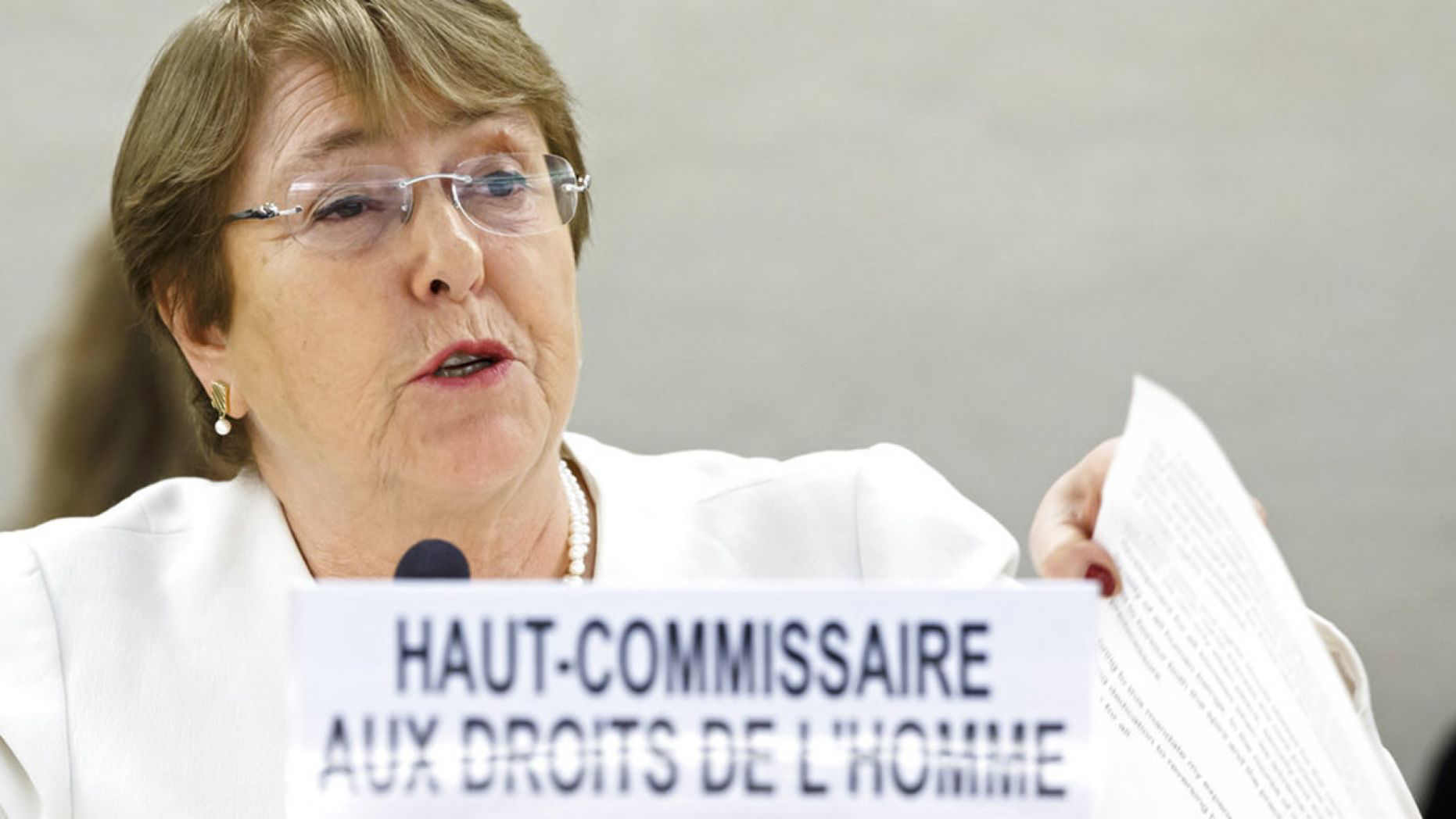 UN High Commissioner for Human Rights Michelle Bachelet
