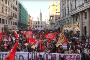 Roma, corteo nazionale contro il razzismo e il decreto Salvini